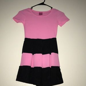 Other - Pink with Black Stripped Dress